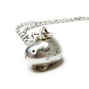 Image of Solid Silver Guinea Pig Necklace