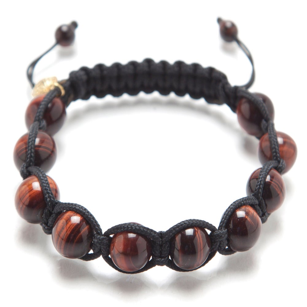 Image of Black Silk w/ Red Tiger Eye