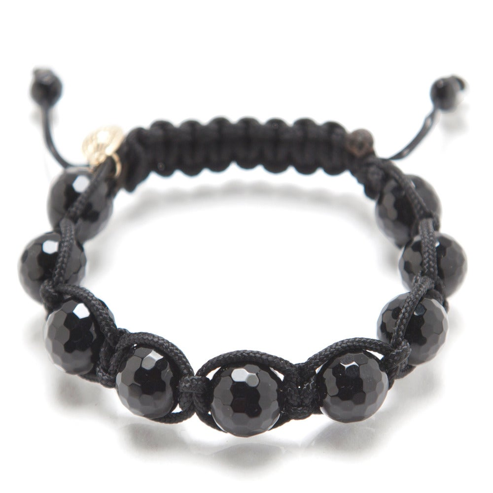 Image of Black Silk w/ Faceted Shiny Onyx