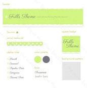 Image of frills blog graphic suite