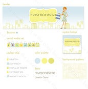 Image of fashionista blog graphic suite