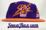 Image of Vintage Deadstock Phoenix Suns Signature AJD Backscript Snapback Hat Caap