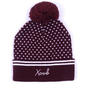 Image of XCVB - Polka Bobble Hat - Maroon
