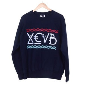 Image of XCVB - Waves Sweatshirt - Navy