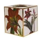 Image of Amaryllis Tissue Box