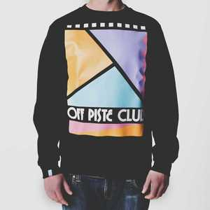 Image of Off Piste Club | Black Sweatshirt