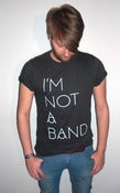 Image of I'm Not A Band - black shirt, white frontprint, boys