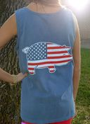 Image of Comfort Colors Patriotic Pig Tank