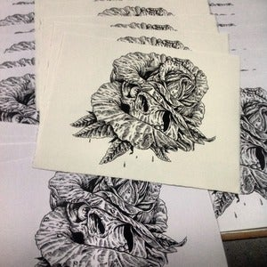 Image of Skull Rose silkscreened poster!