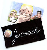 Image of SUPPORT JEREMIAH: Patch, Button and Postcard Pack!
