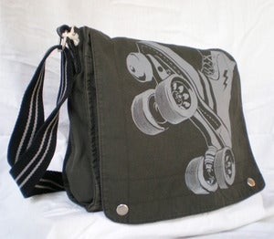 Image of FTR Canvas Field bag, Charcoal