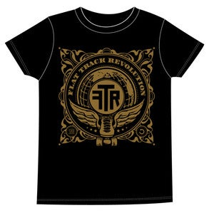 Image of FTR Winged skate T in metallic Gold