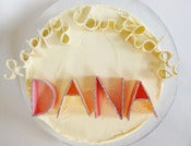 Image of Gum Paste Letters - 2&quot; Sparkle-edged