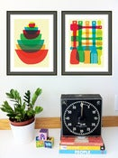 Image of Bowl & Utensil Stack - 2 Kitchen Art Giclee Print Set