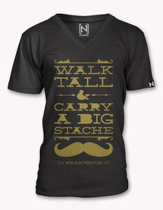 Image of Walk Tall & Carry A Big Stache Vneck