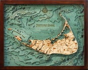 Image of Nantucket, MA Wood Map