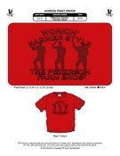 Image of Red Working Farmer Style T-Shirt (Youth Sizes Available)