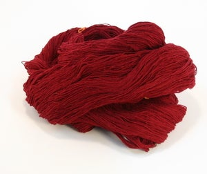 Image of Dark Red Slender Silk Yarn