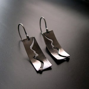 Image of Winding River Earrings, Patina