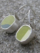Image of Chunky hanging silver earrings