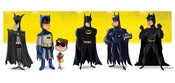 Image of Evolution of Batman Print