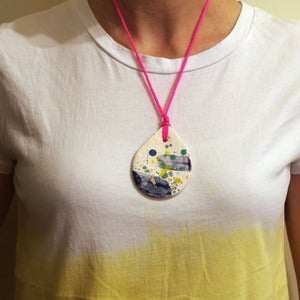 Image of CONFETTI DROPLET NECKLACE #1