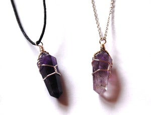 Image of Amethyst Wire Wrapped Necklace