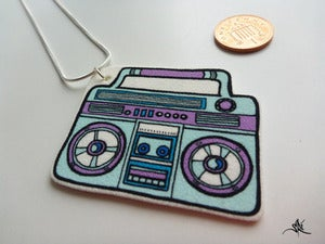 Image of Boombox Necklace - LightBlue/Purple