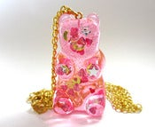 Image of Gummy Bear necklace Cotton Candy Pink