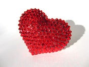 Image of Giant Ruby Heart Sparkle Ring