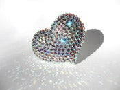 Image of Giant Aurora Heart Sparkle Ring