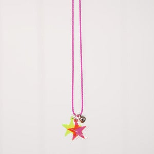 Image of See you at sundown neon star necklace