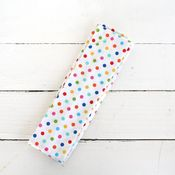 Image of messenger bag sash - rainbow dots
