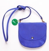 Image of Yves Klein Blue Largeish leather locket/ handbag