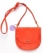 Image of Tangerine Largeish Leather Locket handbag