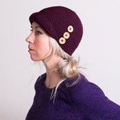 Image of Cloche Hat With Buttons