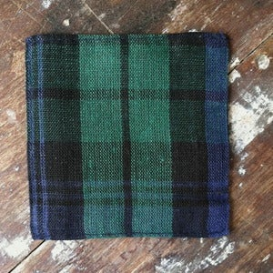 Image of Coasters: Tartan Check Green