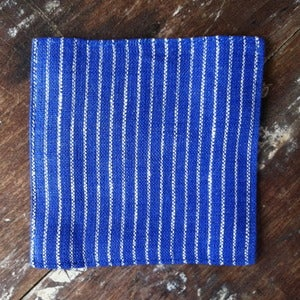 Image of Coasters: Blue Thin White Stripes