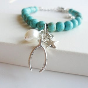 Image of Wishbone Charm Bracelet