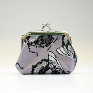 Image of Purple Bee - Small Coin Purse