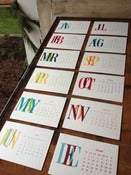 Image of 2013 Letterpress Desk Calendar - Limited Edition