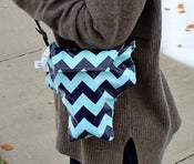 Image of Aqua Navy Chevron {*WaterProof} Rain Slicky