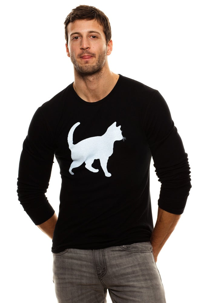 Image of GUYS BLACK &quot;MINI MIM&quot; CAT QUOTE THERMAL