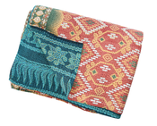 Image of Vintage Kantha Throw | Azure