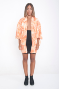 Image of 1970's Kimono with Peaches and Cream Swirl