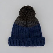 Image of Wooly Hat | Blue & Dark Grey