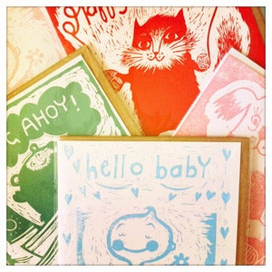 Image of Birthday. New Baby and Hugs cards!  Cat - dog - bear - baby