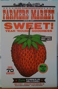 "Image of Farmer's Market ""Sweet"" Strawberry Poster"