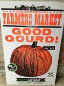 "Image of Farmer's Market ""Good Gourd"" Pumpkin Poster"