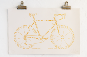 Image of GSC Edition Bicycle Typogram by Aaron Kuehn